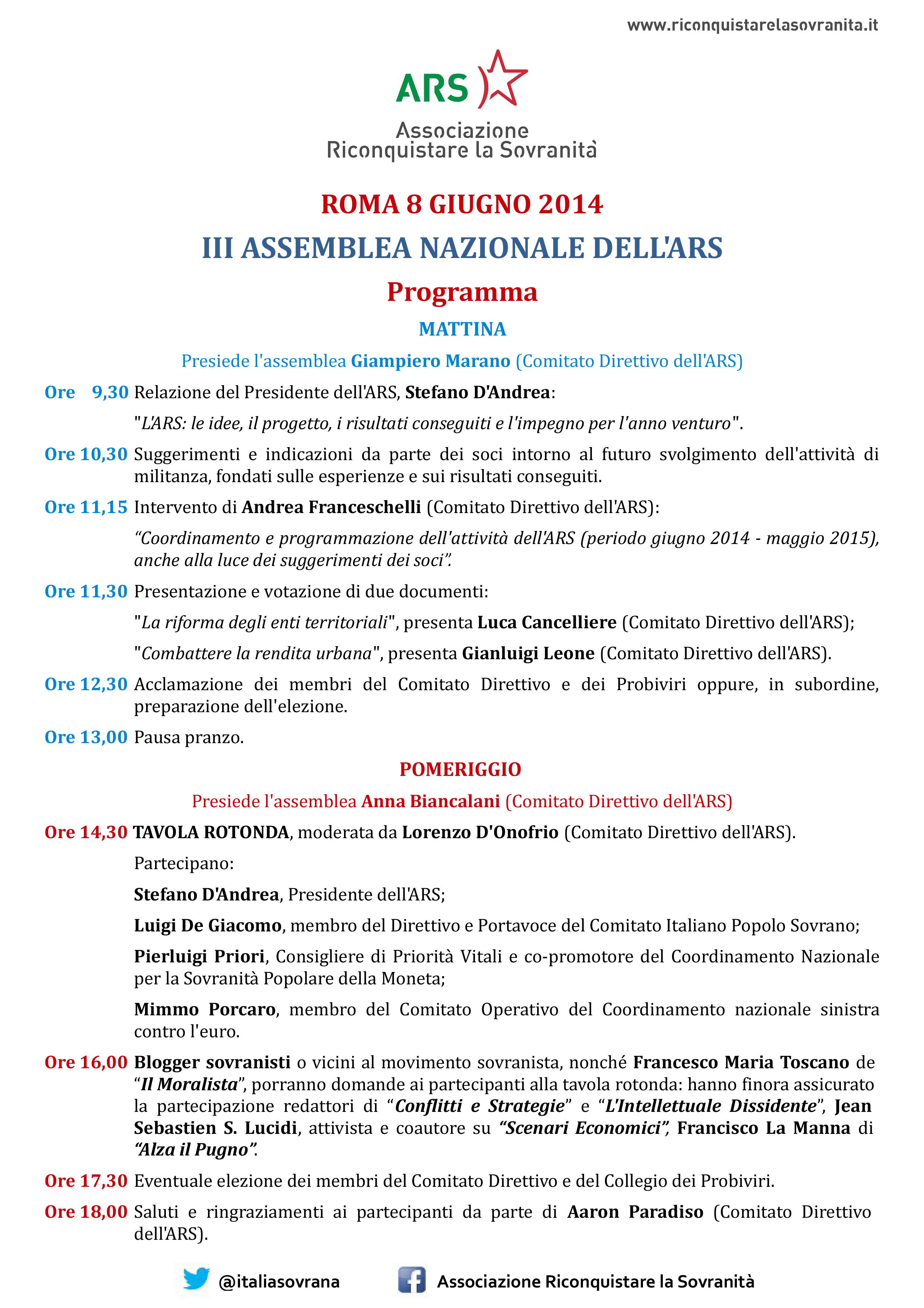 programma assemblea