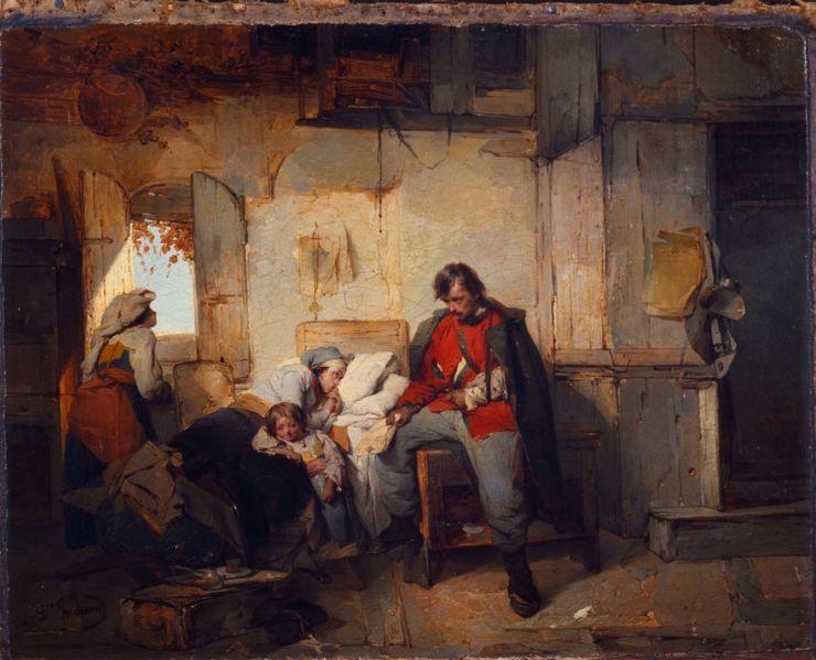 Ritorno del soldato ferito